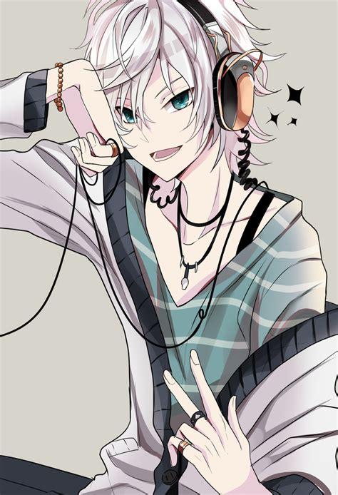 anime boy random anime guy with headphones if my life were an