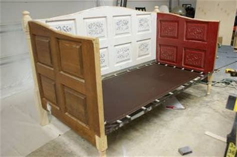 how to build a day bed how to make a day bed out of doors diy tip junkie