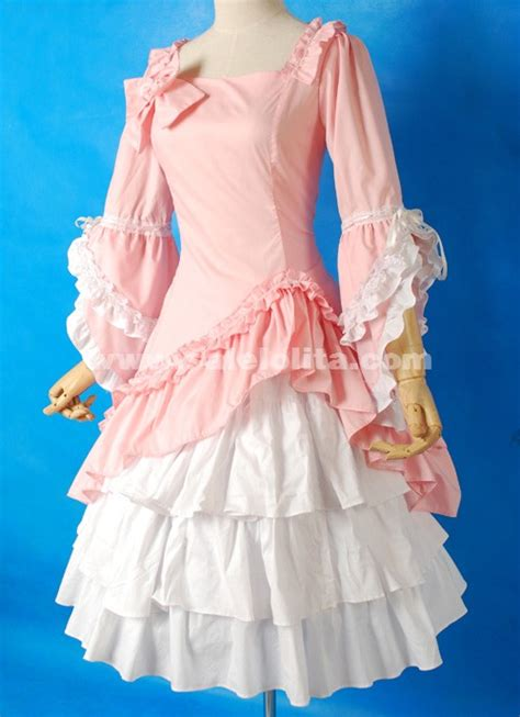 brand  pink  white flare sleeve bow ruffled sweet