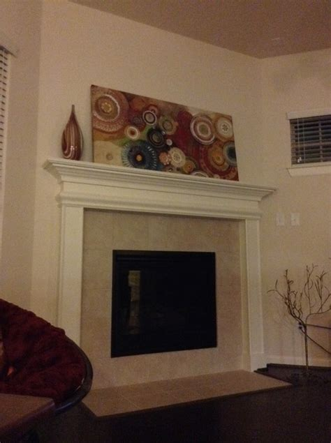 Stick On Fireplace Tiles by Fireplace Makeover With Peel N Stick Tiles