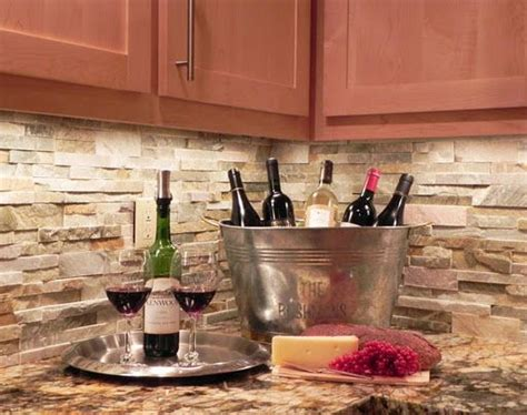 natural stone kitchen backsplash stacked stone backsplash cleaning tips pinterest
