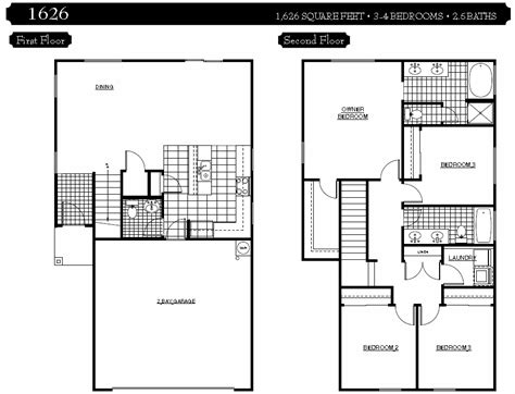5 bedroom house floor plans 2 story 4 bedroom house floor
