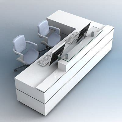 Desk 3d Model by 3d Model Reception Desk