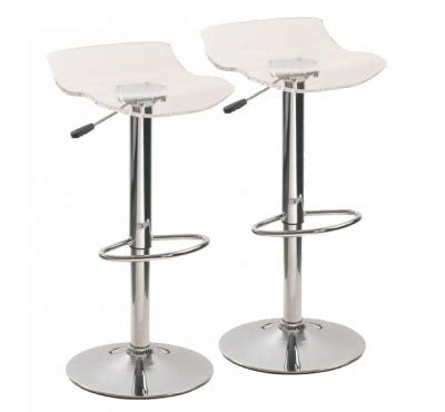 Tabourets De Bar Transparents tabouret de bar transparent