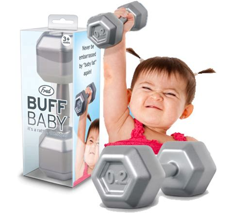 Dumbell Hercules buff baby dumbell rattle 7 95 funslurp unique