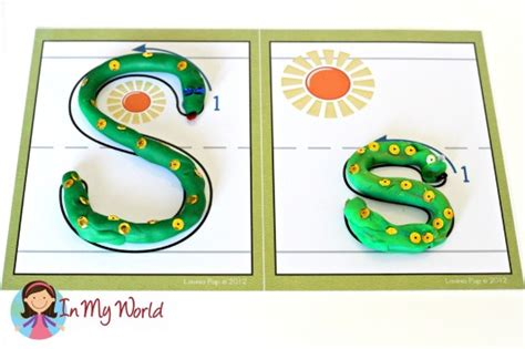 Letter Playdough Mats by Preschool Letter S In World