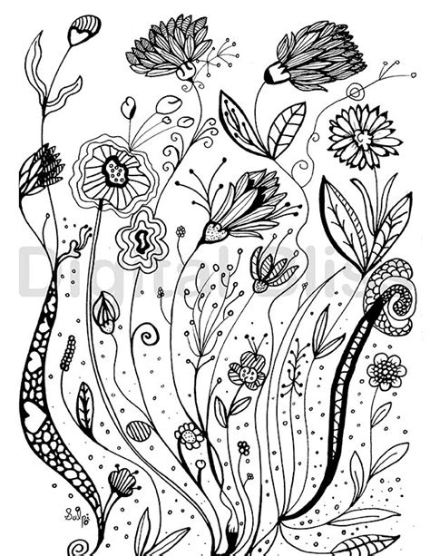 whimsical designs coloring pages adult coloring pages whimsical wild flowers design adult