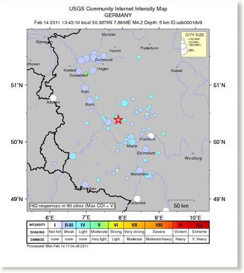 earthquake germany germany earthquake magnitude 4 2 west of frankfurt