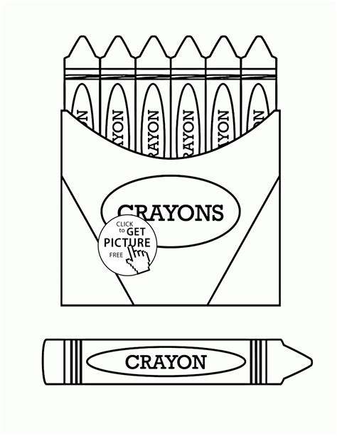 coloring pages with crayons online crayons coloring page for kids back to school coloring