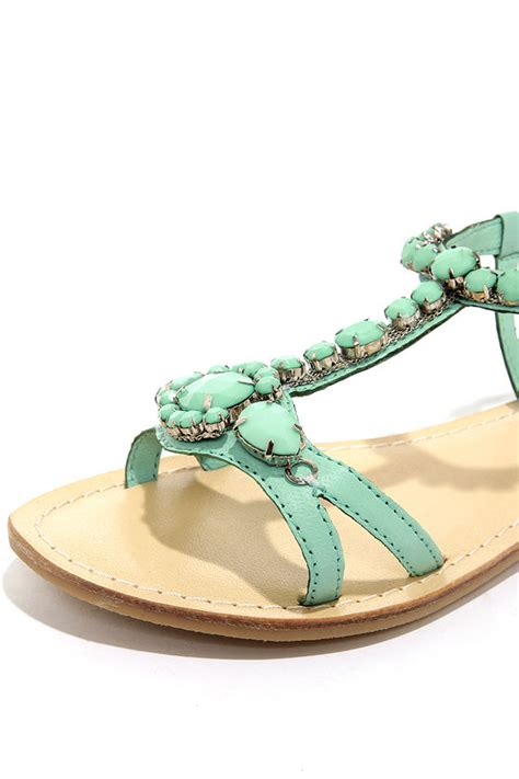 turquoise beaded sandals beaded sandals mint sandals 63 00