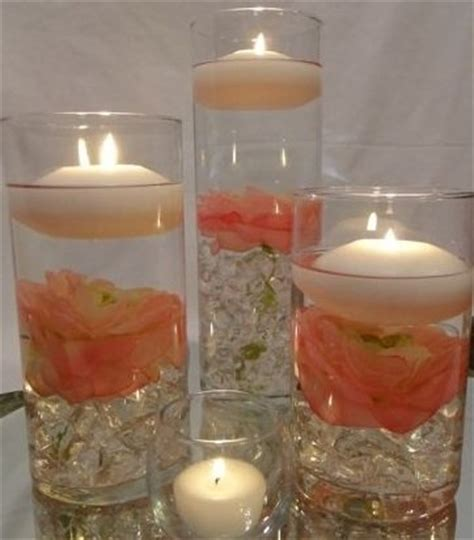 wedding table centerpieces floating candles 36 peonies wedding reception table centerpieces with floating candles custom made to order
