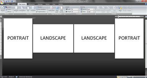 membuat halaman word portrait dan landscape january 2015 blog untuk berbagi