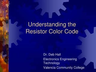 understanding resistor codes ppt the color code powerpoint presentation id 6649379