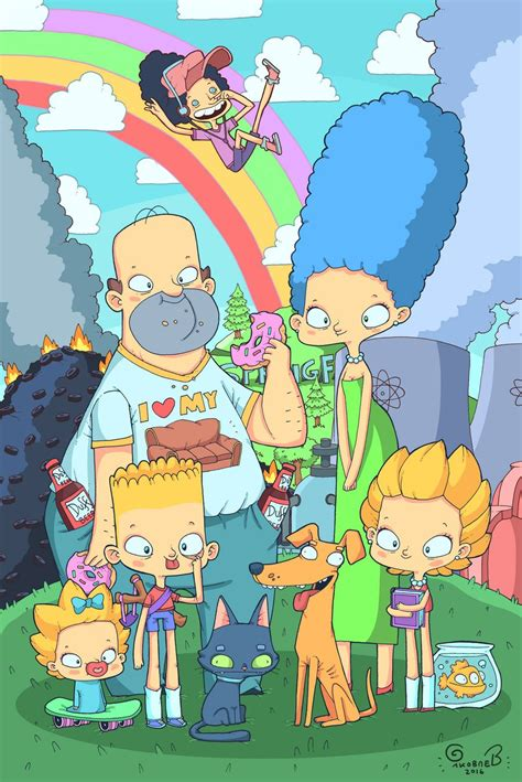 the simpsons fan the simpsons by lost less on deviantart
