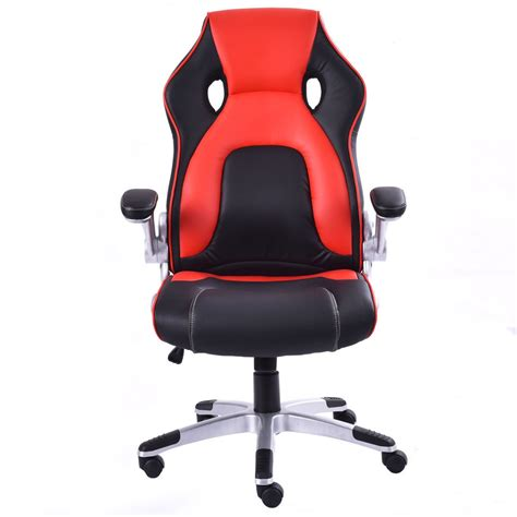 racing seat desk chair pu leather seat office desk chair task computer