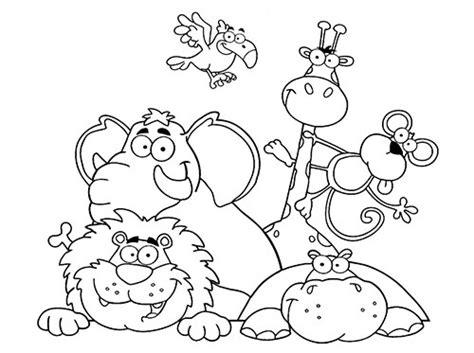 dibujos infantiles con animales flores y plantas en dibujos para colorear de animales web del maestro