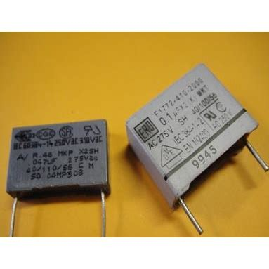 capacitor poliester x2 47k 275vac capacitor poliester radial polyester suppression capacitors