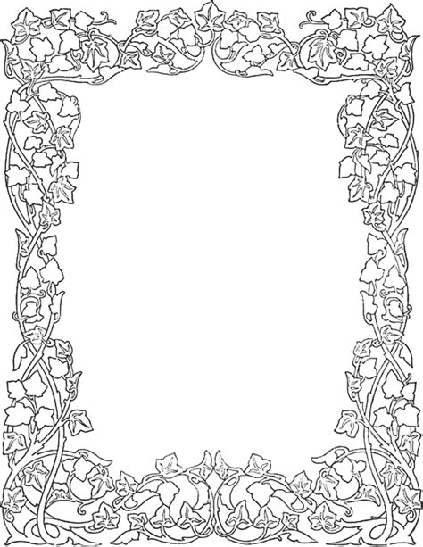 christmas borders coloring page ivy border alte zeiten pinterest scale christmas