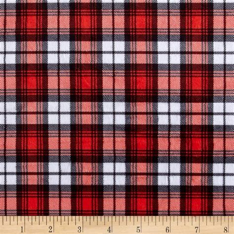 plaid design minky swatch plaid red discount designer fabric fabric com