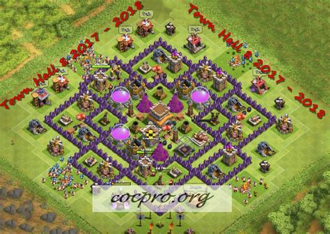 th8 layout after update latest th8 farming trophy defensing war base layouts