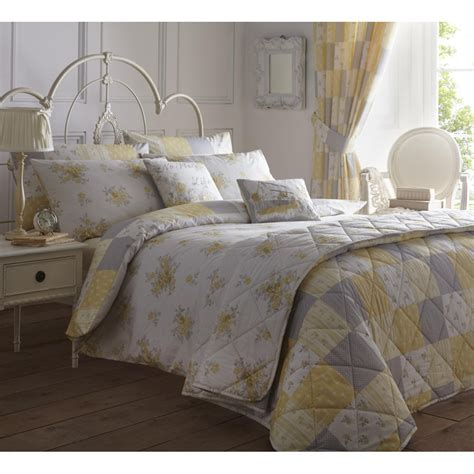 Patchwork Bedding And Curtains - dreams n drapes patsy lemon floral reversible patchwork