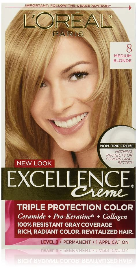 l oreal excellence creme permanent hair color medium coppery golden brown 8 43 1 74 oz pack l or 233 al excellence cr 233 me permanent hair color 7 5a medium ash