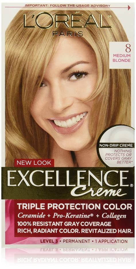 l oreal excellence creme hair colors medium and haircolor l or 233 al excellence cr 233 me permanent hair color 7 5a medium ash