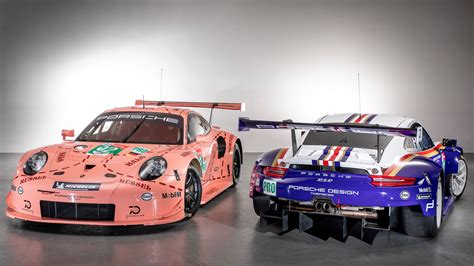 retro racing porsche 24 heures du mans 2018 les porsche 911 rsr officielles