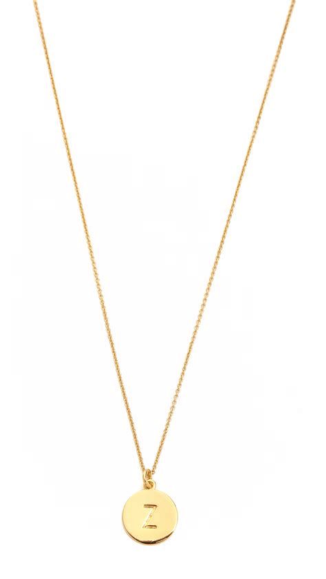 kate spade letter pendant necklace in gold z lyst