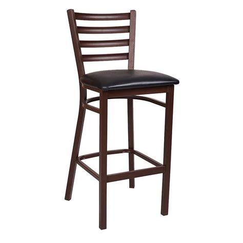 Ladder Back Bar Stool Ladder Back Brown Metal Bar Stool