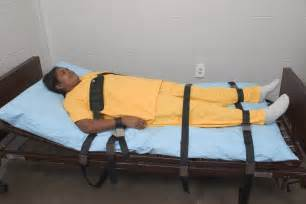 hospital restraints to bed institutional