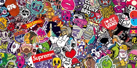 Create A Picture Collage Online sticker bomb 8 muraldecal com