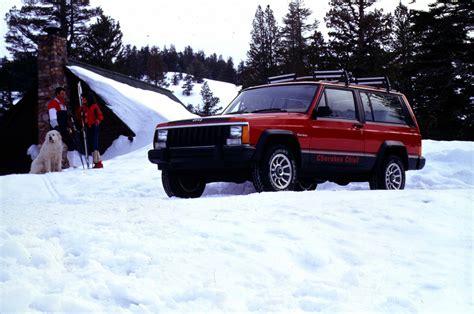 jeep cherokee chief xj 1984 jeep cherokee chief in snow 339989 photo 1