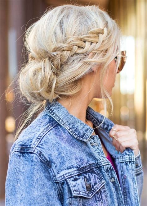 cute hairstyles you can sleep in messy bun with side braid easy back to school hairstyles