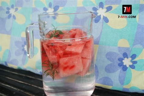 Watermelon Rosemary Detox Water by Watermelon And Rosemary Infused Water