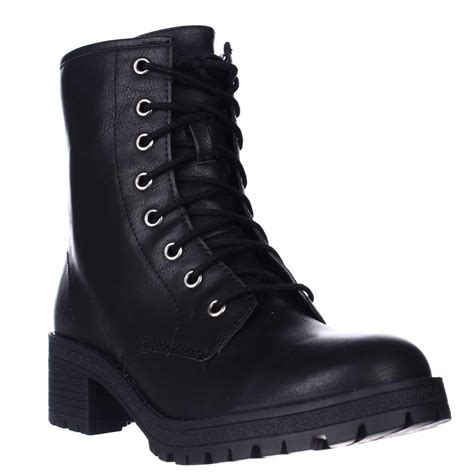 madden boots black madden eloisee lace up combat boots in black lyst