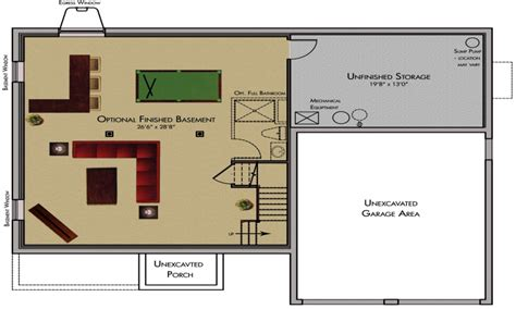 House Plans With Finished Basements Cool Basement Ideas Finished Basement Floor Plans Classic Homes Floor Plans Mexzhouse