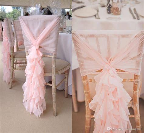 blush pink chair sashes 2017 2015 blush pink chair sashes chiffon ruffles chair