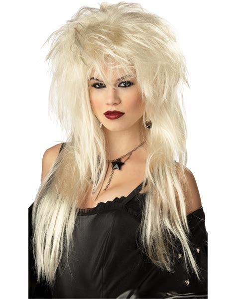 halloween rockstar hairstyles glam rock wig 80s rock star wig