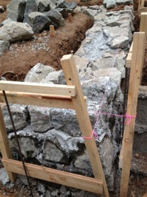 building  stone foundation   house