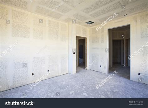 How To Drywall A Room by New Construction Of Drywall Plasterboard Interior Room