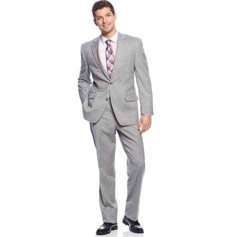 Light Grey Suits by Michael Kors Michael Suit Light Grey Stripe In Gray For