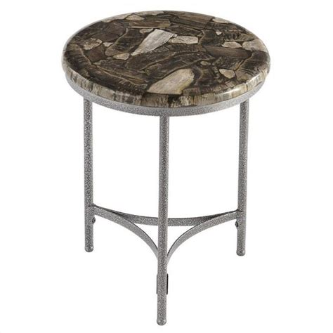 accent table in petrified wood and gray 5132 32