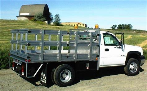 stake bed truck aluminum stake bed truck