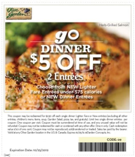 olive garden coupons aaa 17 best images about fast food coupons on pinterest