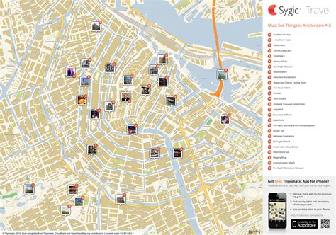 map of tourist amsterdam printable tourist map sygic travel