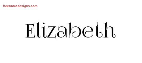 tattoo lettering elizabeth elizabeth archives free name designs