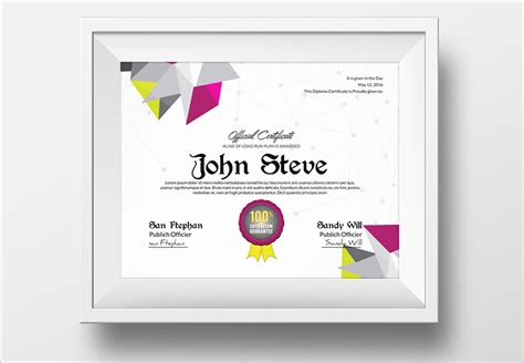 templates for certificates psd 28 creative certificate templates free premium templates