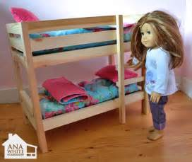 American Doll Bunk Bed White Doll Bunk Beds For American Doll And 18 Quot Doll Diy Projects