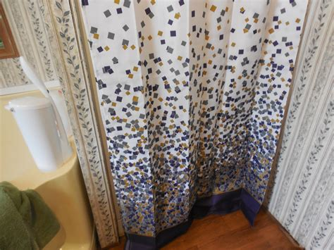 water resistant fabric shower curtain lanmeng confetti design fabric shower curtain mildew